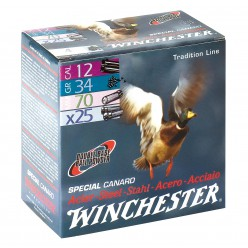Cartucho WINCHESTER Acero SPECIAL CANARD cal.12 34 grs.